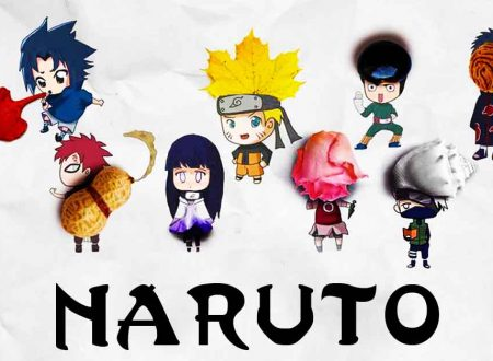 Cute Naruto Anime Illustrations Using Recycled Objects.