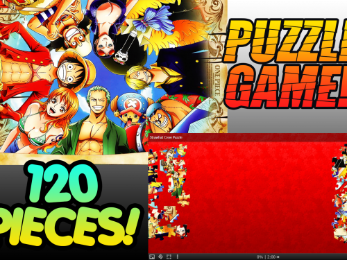 One Piece Puzzle Game!!! Straw Hat Pirates 120pcs