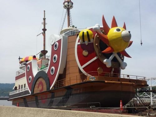 One Piece ship to anchor at Japanese theme park
